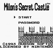 Milon's Secret Castle title screenshot