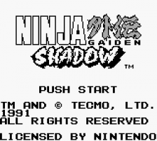 Ninja Gaiden Shadow title screenshot