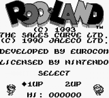 Rod Land title screenshot