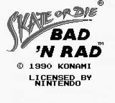 Skate or Die - Bad 'N Rad title screenshot