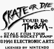 Skate or Die - Tour de Thrash title screenshot
