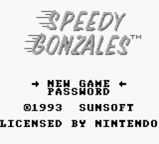 Speedy Gonzales title screenshot
