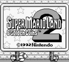 Super Mario Land 2 - 6 Golden Coins title screenshot