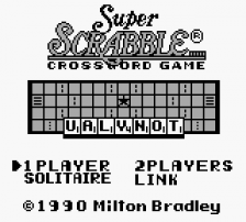 Super Scrabble title screenshot
