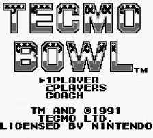 Tecmo Bowl title screenshot