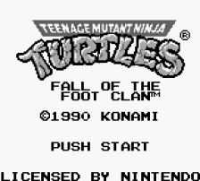 Teenage Mutant Ninja Turtles - Fall of the Foot Clan title screenshot
