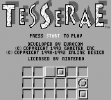 Tesserae title screenshot