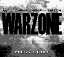 WWF War Zone title screenshot