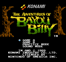 Adventures of Bayou Billy, The title screenshot