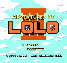 Adventures of Lolo 3 title screenshot