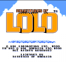 Adventures of Lolo title screenshot