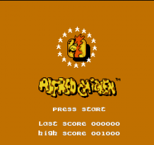 Alfred Chicken title screenshot