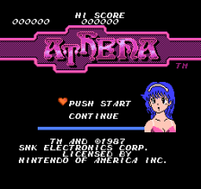 Athena title screenshot