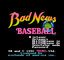 Bad News Baseball title screenshot