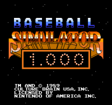 Baseball Simulator 1.000 title screenshot