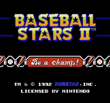 Baseball Stars II title screenshot