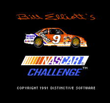 Bill Elliott's NASCAR Challenge title screenshot
