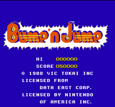 Bump'n'Jump title screenshot