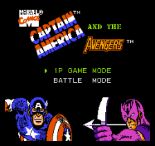 Captain America and the Avengers title screenshot