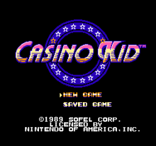 Casino Kid title screenshot