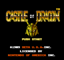 Castle of Dragon title screenshot