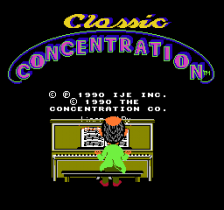 Classic Concentration title screenshot