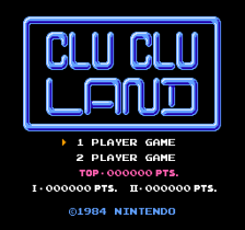 Clu Clu Land title screenshot