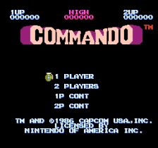 Commando title screenshot