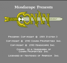 Conan title screenshot