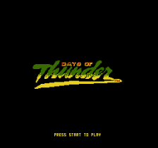 Days of Thunder title screenshot