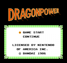Dragon Power title screenshot