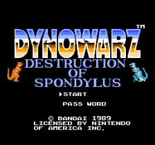 Dynowarz - Destruction of Spondylus title screenshot