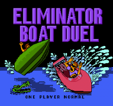 Eliminator Boat Duel title screenshot