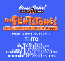 Flintstones, The - The Rescue of Dino & Hoppy title screenshot