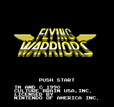 Flying Warriors title screenshot