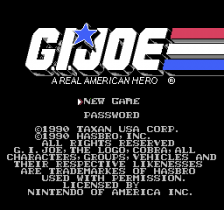 G.I. Joe - A Real American Hero title screenshot