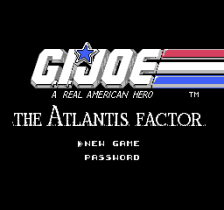 G.I. Joe - The Atlantis Factor title screenshot