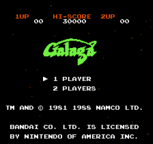 Galaga - Demons of Death title screenshot