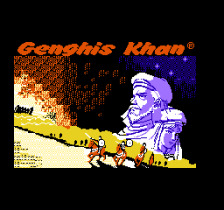 Genghis Khan title screenshot