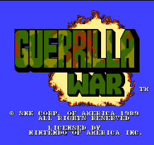 Guerrilla War title screenshot
