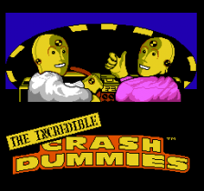 Incredible Crash Dummies, The title screenshot