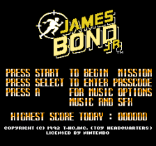 James Bond Jr title screenshot