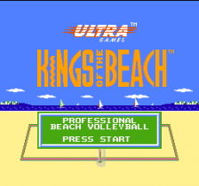 Kings of the Beach - Professional Beach Volleyball title screenshot