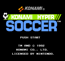 Konami Hyper Soccer title screenshot