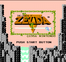 Legend of Zelda, The title screenshot
