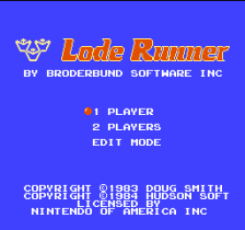Lode Runner title screenshot