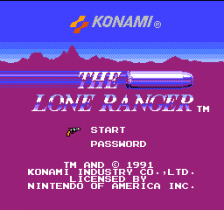 Lone Ranger, The title screenshot