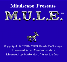 M.U.L.E. title screenshot