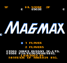 Magmax title screenshot