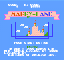 Mappy-Land title screenshot